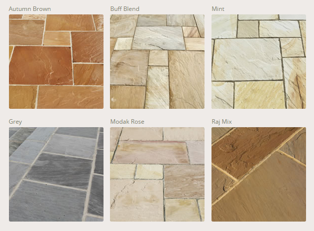 Indian Sandstone Colours